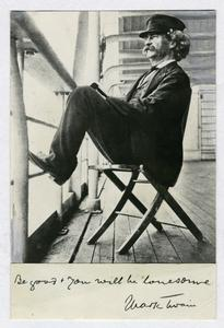 Mark Twain at sixty, on his wa... Digital ID: 100707. New York Public Library