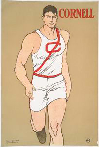 Image: Edward Penfield poster of Cornell athlete, dated 1908