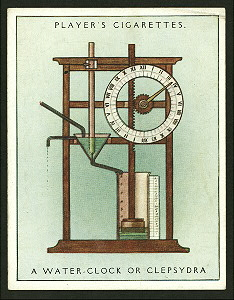 A water-clock or clepsydra. Digital ID: 1189076. New York Public Library