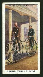 Rucker tandem bicycle. Digital ID: 1195120. New York Public Library