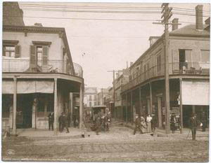 A street corner in New Orleans... Digital ID:                            120443. New York Public Library