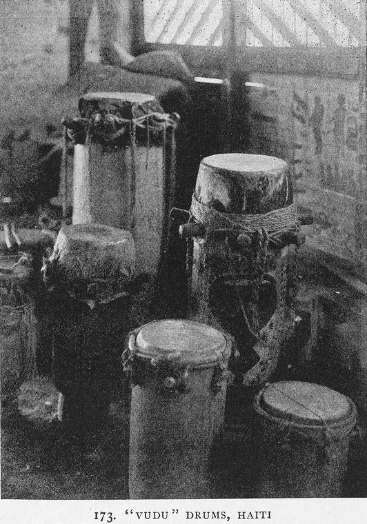 """Vudu"" drums, Haiti., Digital ID 1228957, New York Public Library"