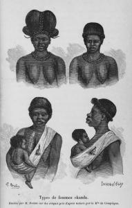 Types de femmes okanda. Digital ID: 1266656. New York Public Library