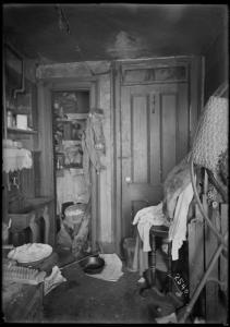 Inhabited kitchen. Digital ID: 1576438. New York Public Library