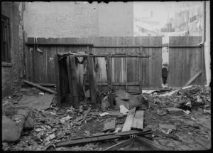 Dilapidated outhouses (1904). Digital ID: 1576439. New York Public Library