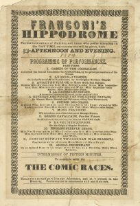 Franconi's Hippodrome. . .prog... Digital ID: 1659214. New York Public Library