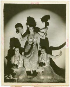 Hawaiian Day - Three hula danc... Digital ID: 1675369. New York Public Library
