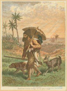 Robinson Crusoe brings in the ... Digital ID: 1697950. New York Public Library