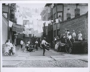 Tenement playground, New York Digital ID: 416562. New York Public Library