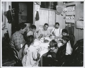 Tenement family, New York Digital ID: 416564. New York Public Library