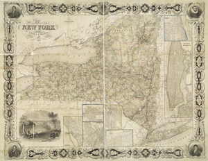 Map of the state of New York /... Digital ID: 434725. New York Public Library