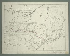 Map shewing the rail roads bet... Digital ID: 434735. New York Public Library