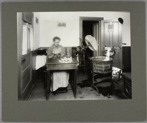 This mother, at work in the ki... Digital ID: 464431. New York Public Library