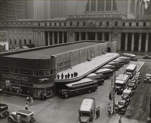 Greyhound Bus Terminal, 33rd a... Digital ID: 482565. New York Public Library