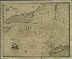 A map of the State of New York... Digital ID: 484226. New York Public Library