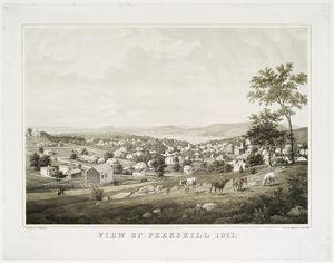 View of Peekskill 1851. Digital ID: 54891. New York Public Library