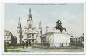 Jackson Square and Cathedral S... Digital ID:                                     62106. New York Public Library