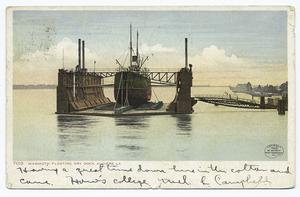 Mammoth Floating Dry Dock, Alg... Digital ID:                                     66838. New York Public Library