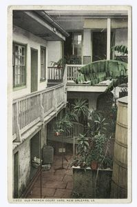 Old French Courtyard, New Orle... Digital ID:                                     69698. New York Public Library
