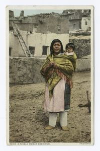A Pueblo Woman and Child Digital ID: 74462. New York Public Library