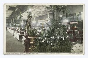 Dining Room, Green's Hotel, Ph... Digital ID: 79537. New York Public Library