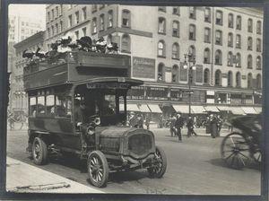 Double-decker bus. Digital ID: 79759. New York Public Library