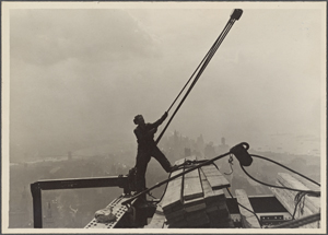 Construction worker maneuverin... Digital ID: 79831. New York Public Library