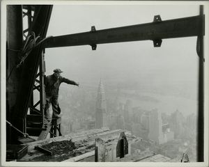 Atop Empire State- in construc... Digital ID: 79849. New York Public Library