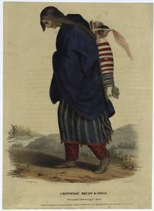 Chippeway squaw & child. Digital ID: 806924. New York Public Library