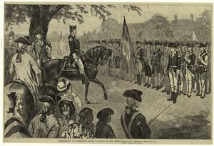 Washington at Cambridge, takin... Digital ID: 808520. New York Public Library