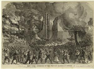 New York -- burning of the pro... Digital ID: 809566. New York Public Library