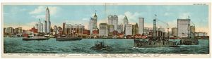New York skyline. Digital ID: 809665. New York Public Library