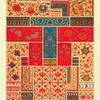 Art indien : flore et ornements courants. Broderies, peintures et nielles.