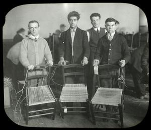 Hamilton Fish, men with chairs they are caning