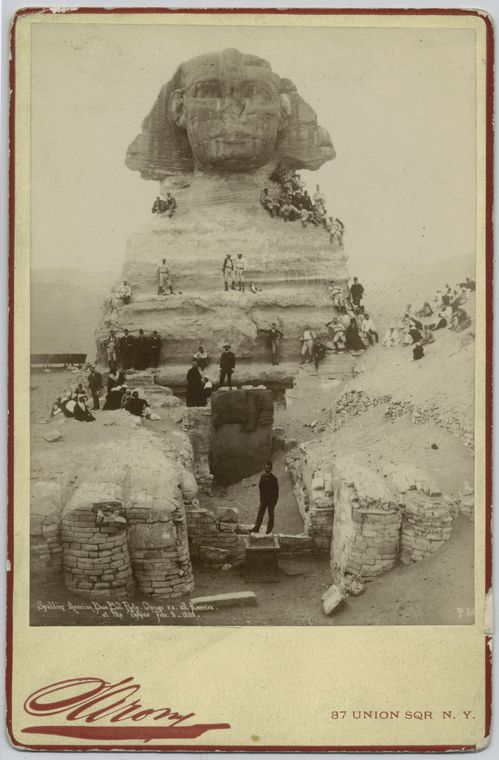The American baseball party at the Sphinx