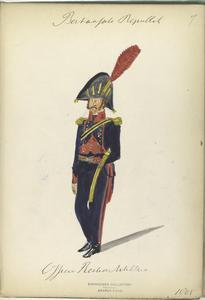 Bataafsche Republiek. Officier Rechteren (?) Artillerie. 1805.