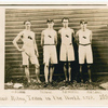New York Athletic Club World's Record Relay Team, 1897, Showing Bernard J. Wefers (third from left)