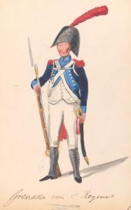 Bataafsche Republiek. Grenadier van 5-e Regiment. 1806