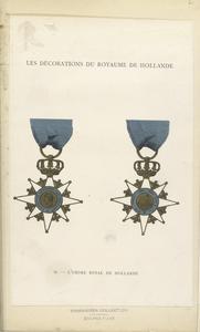Les décorations du royaume de Hollande. L'Ordre Royal de Hollande.