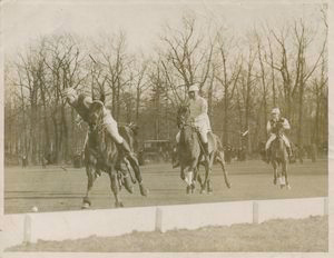 A Side Shot Off the Boards During a Polo Game at Lakewood, New Jersey