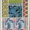 [Five abstract motifs.]