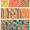 [Ten compositions : geometric and plant forms.]
