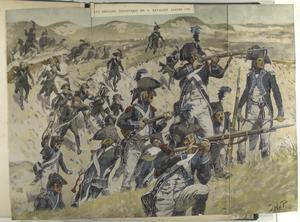 Halve Brigade Infanterie en 1e Bataljon Jagers.