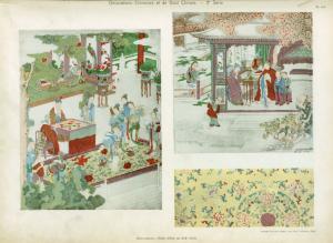 Soies peintes, Chine, début du XIXe siècle.