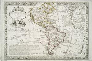 L'Amerique meridionale et septentrionale : dressèe sur les nouvles. decouvtes. et dernieres relations des meilleurs navigateurs decetemps conformes aux observations astronomiques / par J. Luillier.