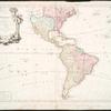 L'Amerique : divisèe en ses principaux etats, assujetie aux observations astronomiqes.