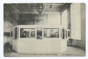 Tottenville National Bank, Banking Room.