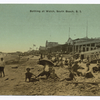 Bathing at Walch, South Beach, Staten Island. [people on sand in front of Walch Bath House.]