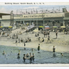 20145-Bathing Beach, South Beach, Staten Island, N.Y.  [Nunleys Baths & Pool  shore scene and entrance to pool.]
