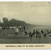 Nothing like it in the country (people standing on shore)  Hand-stamped on front: South Beach, Staten Island, N.Y.